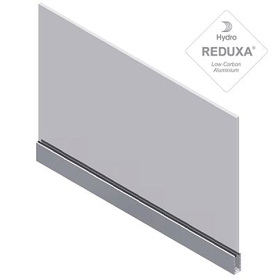 barandilla de aluminio solo en inferior y relleno total de vidrio