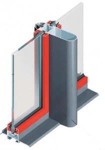 seccion aluminio y vidrio de biombo tipo cierres comerciales