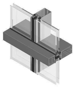 sección Geode horizontal en aluminio y vidrio