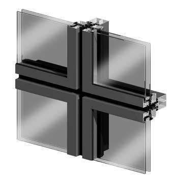 sección Geode aspecto cuadrado en aluminio y vidrio