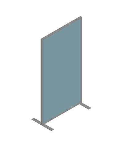 mampara protectora enmarcada con vidrio fabricada por sicalum