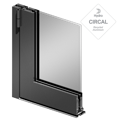 sección soleal PY en aluminio y vidrio