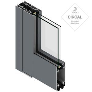 sección titann en aluminio y vidrio