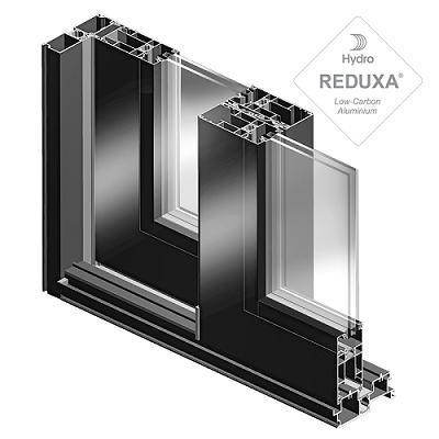 sección de ventanas corredera elevable de aluminio galene con vidrio