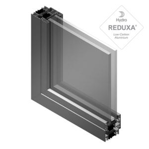 seccion de aluminio soleal vista y vidrio