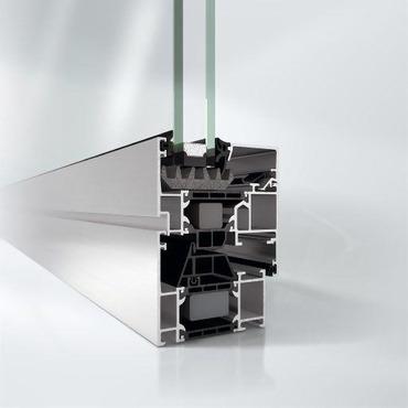 sección de marco de aluminio con poliamida para plan renove ventanas 2020