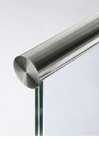 barandilla de cristal de seguridad con pasamanos de acero inox brillo